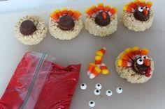 Turkey Rice Krispie Treats   Fun Thanksgiving Dessert! - Moms Need ...