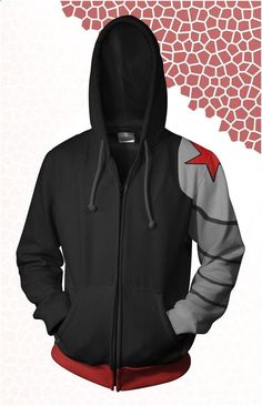 Winter Soldier (Bucky Barnes) Hoodie- So I want this one and the Captain America hoodie!