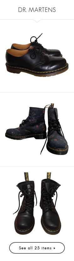 """""""DR. MARTENS"""" by rosavage01 on Polyvore featuring shoes, dr. martens, leather shoes, kohl shoes, dr martens shoes, real leather shoes, boots, blue, lace-up bootie and lace up ankle bootie"""