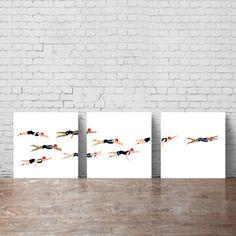 TRIATHLON ART. Swimming wall art printable. by KeepMakingSmiles