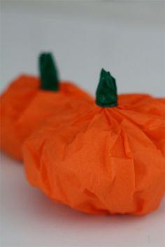 Tissue Paper pumpkin favors
