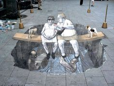 How to Create Anamorphic Art | Here are some pretty cool 3D street paintings by Eduardo Relero , who ...