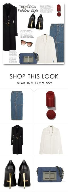 """""""Denim Skirt"""" by bliznec ❤ liked on Polyvore featuring Tom Ford"""