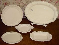 Painted silver trays