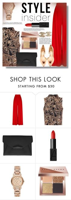 """Stay focused & extra SPARKLY"" by xwafflecakezx ❤ liked on Polyvore featuring Hebe Studio, Glamorous, Givenchy, NARS Cosmetics, Burberry, Bobbi Brown Cosmetics and Chanel"
