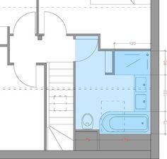 . Small Bathroom Layout, Bathroom Toilets, Bathrooms, Sustainable Design, Bathroom Inspiration, Home Renovation, Interior Design Living Room, Home Deco, Floor Plans