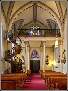 Santa Fe, NM ~ The Loretto Chapel - Miracle Staircase