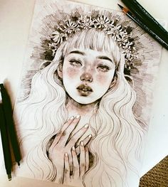 Find images and videos about arte, beauty and drawing on we heart it - the app to get lost in what you love. Realistic Drawings, Cool Drawings, Drawing Sketches, Inspiration Art, Art Inspo, Pretty Art, Cute Art, Wow Art, Pencil Illustration