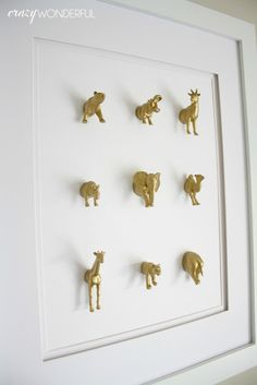 Clock Design İdeas 184436547226897918 - minature mounted menagerie – Crazy Wonderful Source by gedinvalinterieur Diy Home Crafts, Diy Arts And Crafts, Diy Home Decor, Diy Wall Art, Wall Decor, Room Decor, Deco Kids, Deco Originale, Diy Clock