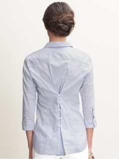 Tutorial: great way to upcycle a button-up shirt that's too big #DIY #fashion
