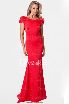 Outlining Fuchsia Sheath Evening Dress with Floral Applique Petal Sleeves
