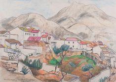 """Modern British Art Works by Rudolph Sauter: """"Ben Almadena, Spain feb"""" Modern, Spain, British, Painting, Art, Painting Art, Paintings, Kunst, Paint"""