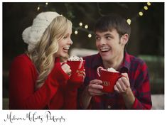 super cute christmas couples photo session. great inspiration for a winter wedding or engagement shoot