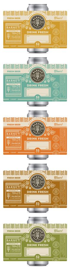 Beer can labels label design