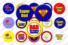 Fathers Day Dad Bottle Cap Images 1 inch by ItsYourPartyPinit