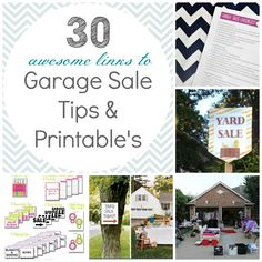 Garage Sale Season (a great time to get rid of belongings before that open house!) Simply organized: organized garage sales - get inspired!