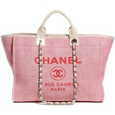 c3c4ce66f7ed CHANEL Canvas Deauville Tote ❤ liked on Polyvore featuring bags, handbags, tote  bags,