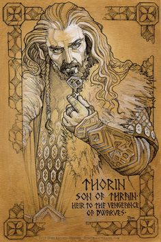 And for your daily dose of eye candy...I give you...Thorin (Hobbit illumination) work in progress, by Soni Alcorn-Hender