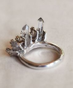 Crown Heirloom Ring Set Silver - Back