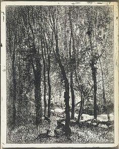 Charles François Daubigny, Barbizon, La Gardeuse de Chevres, cliche-verre