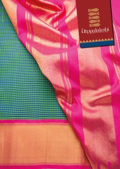 Look fabulous in the green and blue checked saree. The pink tissue border complements the blue green tone of the saree. Create new occasions. #Utppalakshi #Sareeoftheday#Silksaree#Kancheevaramsilksaree#Kanchipuramsilks #Ethinc#Indian #traditional #dress#wedding #silk #saree#craftsmanship #weaving#Chennai #boutique #vibrant#exquisit #pure #weddingsaree#sareedesign #colorful #elite