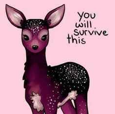 You will survive this Inspirational Animal Quotes, Cute Animal Quotes, Uplifting Quotes, Cute Quotes, Words Quotes, Positive Quotes, Motivational Quotes, Cute Animals, Qoutes