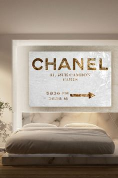 Oliver Gal Couture Road Sign Canvas Art//