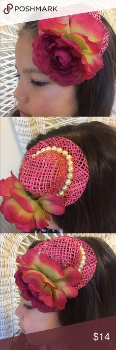Gorgeous pink blossom pearl girl fascinator Handmade by me, the spring fest mini fascinator is perfect for vintage style, costumery, tea parties, fun gatherings of all kinds. One size fits all:) handmade Accessories Hair Accessories
