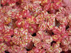 flower yo-yo's with Freshcut fabric