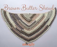 Brown Butter Shawl - free crochet pattern on Mooglyblog.com, featuring Red Heart Soft Essentials Stripes! #redheartyarns #freecrochetpatterns #freecrochet #mooglyblog