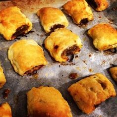 A batch of The Shrinking Hubby's Gluten Free Sausage Rolls straight from the oven