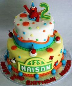 Nice Sesame Street birthday cake for Maison. Happy Birthday!