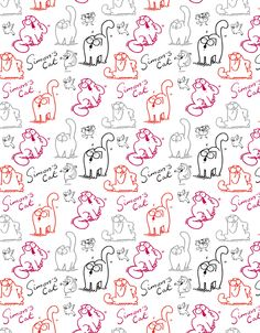 Xskins design - Doodle Cat (white)