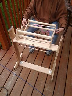 Ravelry: christinacoghill's rigid heddle loom stand