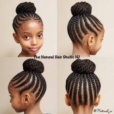 It's Bun season! - It's Bun season! It's Bun season! Box Braids Hairstyles, Lil Girl Hairstyles, Black Kids Hairstyles, Natural Hairstyles For Kids, Kids Braided Hairstyles, Hairstyles 2018, Relaxed Hairstyles, Braided Updo, Drawing Hairstyles