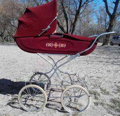 . Vintage Stroller, Vintage Pram, Pram Stroller, Baby Strollers, Prams And Pushchairs, Baby Buggy, Baby Prams, Baby Carriage, My Favorite Color