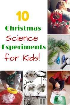10 Christmas Science Experiments for Kids. These fun and festive science experiments are sure to be a hit this holiday season!