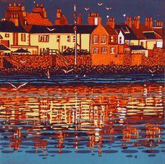 Mark A Pearce - original linocut prints   Mark A Pearce