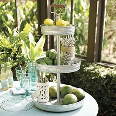 When the occasion calls for something cool and casual, our Hayden 3-Tiered Stand is ready to serve a hungry crowd. Shop Ballard Designs today.