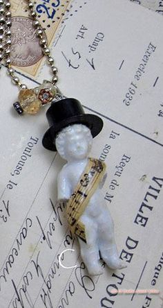 """""""Such A Doll!"""" Antique Frozen Charlotte Pendant by saintsandsinnersart, via Etsy."""