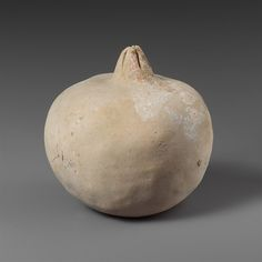 Terracotta pomegranate, 5th–4th century B.C. Greece