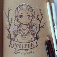 Artist: Lara Gates #horizonzerodawn #fanart #aloy #chibi
