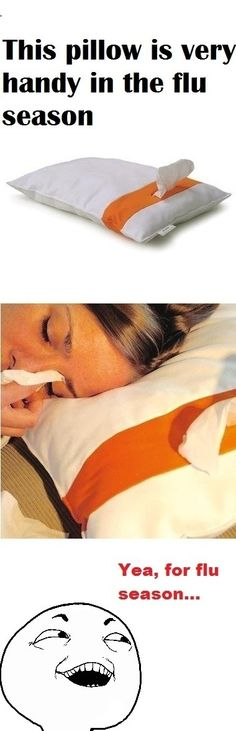 """Sick Pillow. Easy to make with a hypoallergenic pillow cover ... so many ideas and what a perfect way to say """"feel better""""!"""