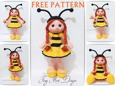 Amigurumi Bee Girl Free Pattern | Tiny Mini Design