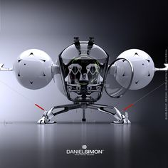 dragonfly shaped Bubble Ship from the movie 'Oblivion'. Concept design by Daniel Simon. Concept Ships, Concept Cars, Spaceship Concept, Futuristic Design, Aircraft Design, Transportation Design, Space Crafts, Drones, Cosmic