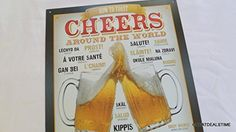 Gifts For Beer Lovers, Lovers Gift, Bar Signs, Shop Signs, Man Cave Signs, Garage Shop, Metal Signs, Cheers, Toast