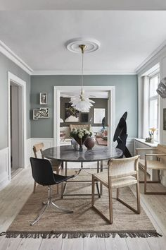 The-Darling-Home_005 Dining Room Chairs, Dining Table, Scandinavian Apartment, Decoration, House Tours, Interior Design, Mirror, Architecture, Inspiration