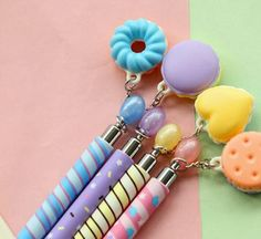 Our Cookie Charm Mechanical Pencils are the perfect addition to your pencil collection. Each pencil not only comes with a cute design, in purple, blue, pink, or