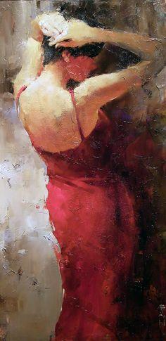 """Cocktail Dress #38 Andre Kohn 48"""" x 24"""" www.andrekohnfineart.com"""