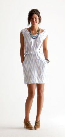 chevron grey dress